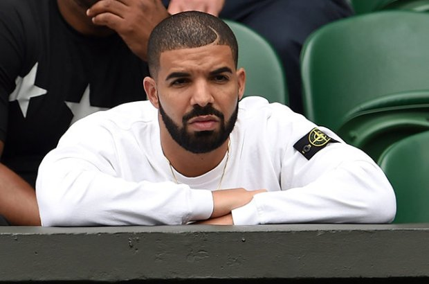 LONDON, ENGLAND - JULY 06:  Drake attends day seven of the Wimbledon Tennis Championships at Wimbledon on July 6, 2015 in London, England.  (Photo by Karwai Tang/WireImage)