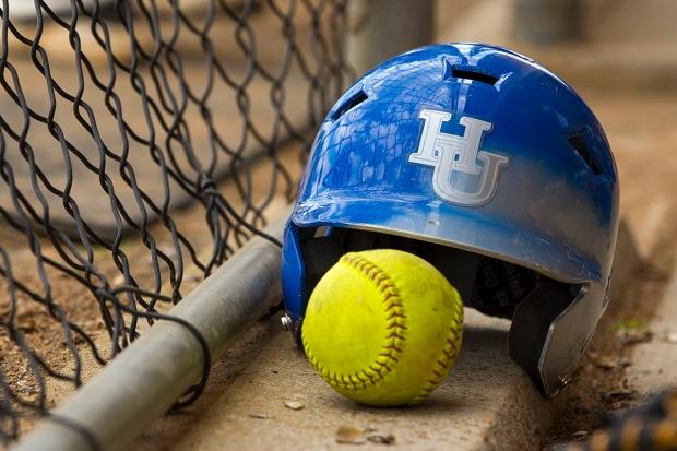 Hampton - Norfolk State Softball Game at NSU Softball Field in Norfolk, Virginia.  May 03, 2014.  (Photo by Mark W. Sutton)
